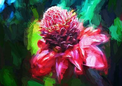 Digital Art - Protea by Charmaine Zoe