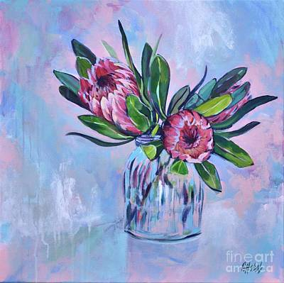 Painting - Proteas Painting by Chris Hobel