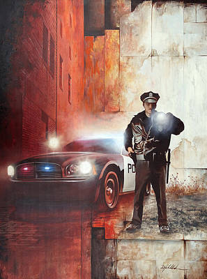 To Serve And Protect Painting - Protect And Serve by Danny Hahlbohm