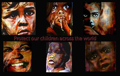 Oppression Mixed Media - Protect Our Children by Michelle Dick