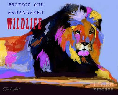 Photograph - Protect Our Endangered Wildlife by Jean Clarke