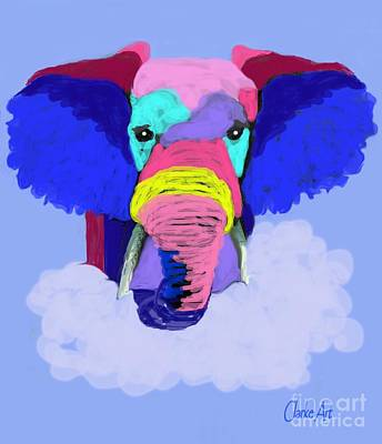 Protect Our Elephants Art Print by Jean Clarke