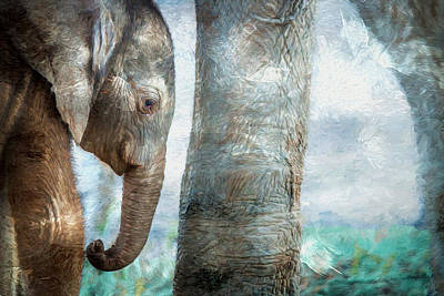 Painting - Protected By Mama - Painting by Ericamaxine Price