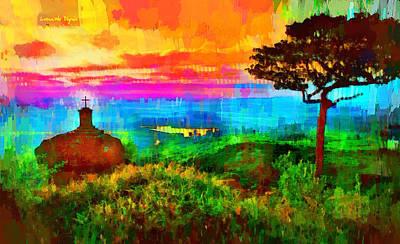 Heaven Digital Art - Protected Forest - Da by Leonardo Digenio