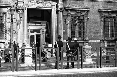 Police Art Photograph - Protecting Rome by John Rizzuto