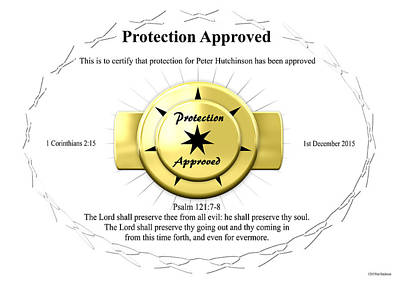 Protection Approved Art Print
