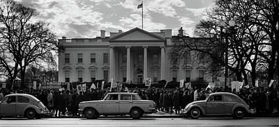 Anti-war Photograph - Protest At The White House 1965 by Wayne Higgs