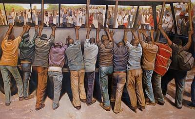 Protest Painting - Protest by Curtis James
