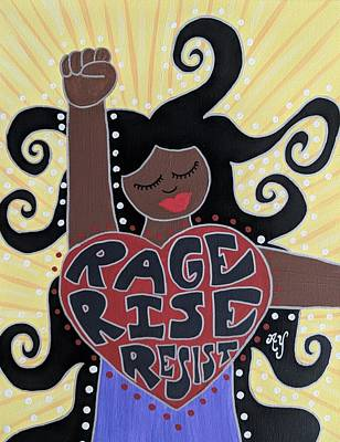 Painting - Protest Goddess by Angela Yarber