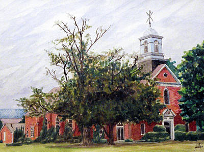 Protestant Chapel At Usmc Camp Lejeune Art Print by Jim Phillips