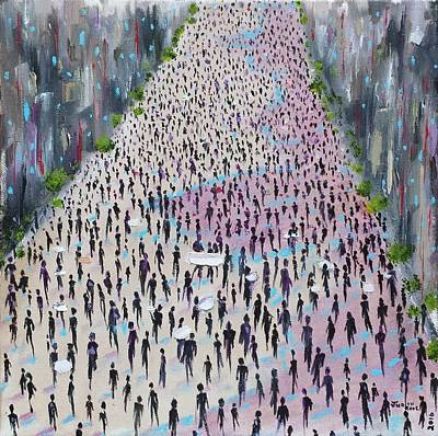 Painting - Protesters by Judith Rhue