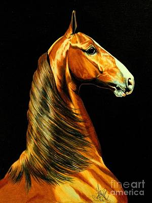 Painting - Prototype - A Saddlebred 2 Year Old by Cheryl Poland