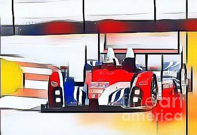 Drag Racing Mixed Media - Prototype Racer by Douglas Sacha