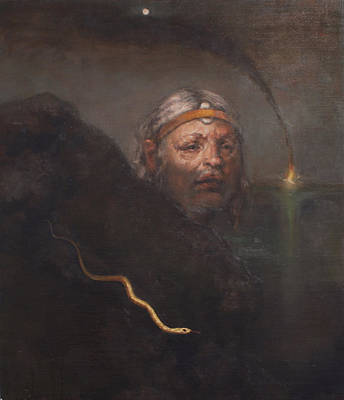 Fire And Water Painting - Protrait Of Robert Schellhardt Finding Atlantis by Leigh Meinhart
