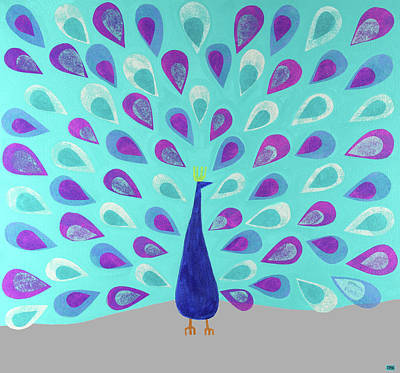 Proud As A Peacock Art Print