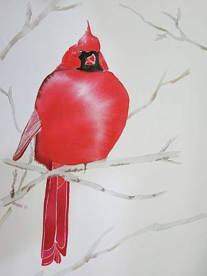 Wall Art - Painting - Proud Cardinal by Dominique Bachelet