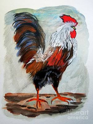 Painting - Proud Country Rooster by Scott D Van Osdol