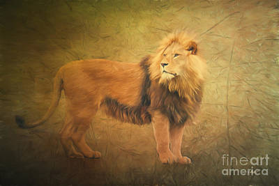 Forelock Digital Art - Proud Lion by Jutta Maria Pusl