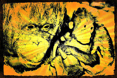 Wall Art - Digital Art - Proud Mama Gorilla by Cheryl Bishop