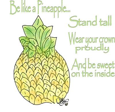 Pineapple Mixed Media - Proud Pineapple by Stacy Heydt