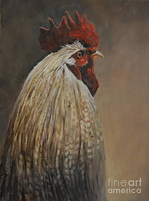 Painting - Proud Rooster by Charlotte Yealey