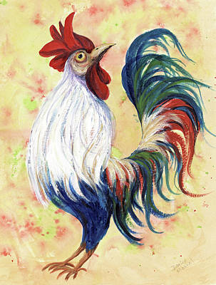 Painting - Proud Rooster by Darice Machel McGuire
