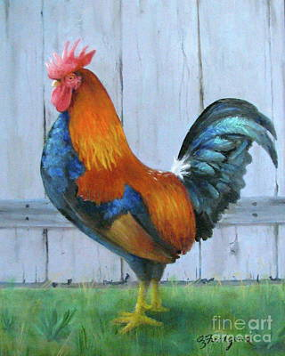 Painting - Proud Rooster by Oz Freedgood