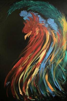 Painting - Proud Rooster by Terri Einer