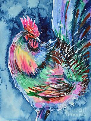 Painting - Proud Rooster by Zaira Dzhaubaeva