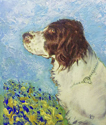 Painting - Proud Spaniel by Richard James Digance