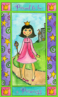 Painting - Proud To Be A Princess by Pamela  Corwin