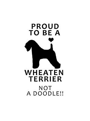 Photograph - Proud To Be A Wheaten by Rebecca Cozart
