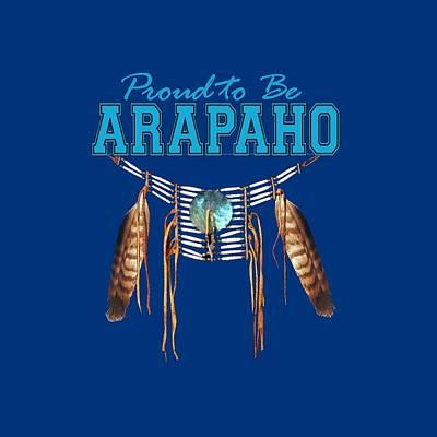 Abenaki Wall Art - Digital Art - Proud To Be Araphao - Tribal Pride by Raven SiJohn