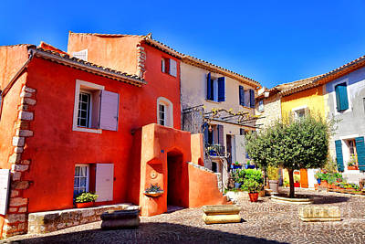 Photograph - Provencal Plaza by Olivier Le Queinec