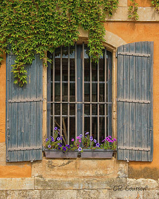 Photograph - Provencal Window by CR Courson