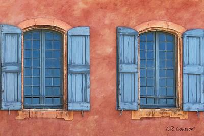Photograph - Provencal Windows by CR  Courson