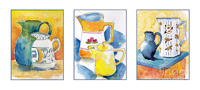 Painting - Provencale Pitcher Trio by Pat Katz