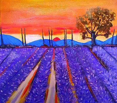 Painting - Provencale Sunset by Rusty Woodward Gladdish