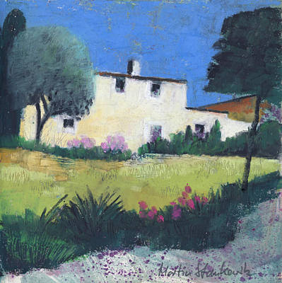 Painting - Provence Country Home by Martin Stankewitz