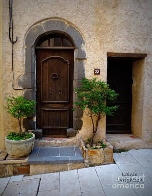 Photograph - Provence Door 22 by Lainie Wrightson