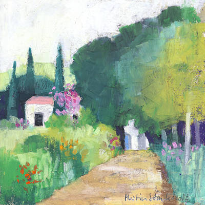 Painting - Provence Farm Houses, Landscape by Martin Stankewitz