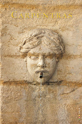 Provence Fountain 1 Carpentras Art Print by Philippe Taka