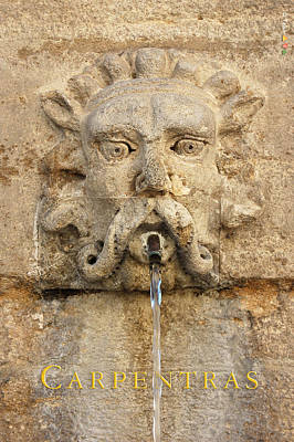 Provence Fountain 2 Carpentras Print by Philippe Taka