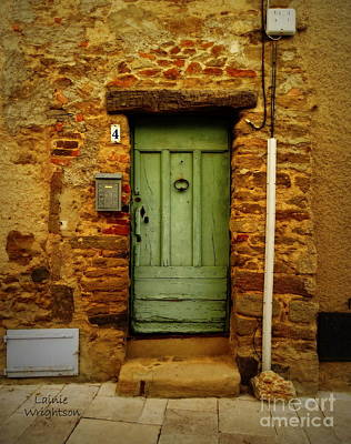 Photograph - Provence Green Door 4 by Lainie Wrightson
