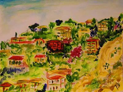 Provence, La Plage Villefranche Sur Mer Art Print by Tamara Vitsenkova
