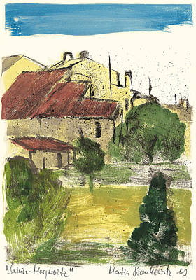 Art Print featuring the painting Provence Landscape Sainte Marguerite by Martin Stankewitz