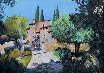 Painting - Provence Landscape Summer Vacation by Martin Stankewitz