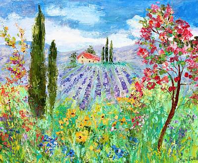 Painting - Provence Wildflowers And Lavender by Karen Tarlton
