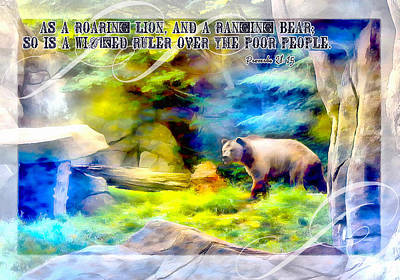 Thomas Kinkade Royalty Free Images - Proverbs 28 15 Royalty-Free Image by Michelle Greene Wheeler