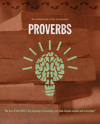 Proverbs Books Of The Bible Series Old Testament Minimal Poster Art Number 20 Art Print
